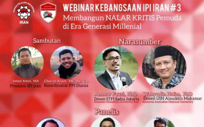 IPI Iran dan PPI Dunia Gelar Webinar Kebangsaan Sumpah Pemuda
