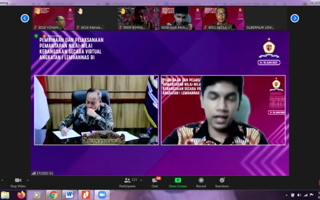 IPI Iran dan Perhimpunan Pelajar Indonesia kirim delegasi dalam Pemantapan Nilai-Nilai Kebangsaan yang diselenggarakan Lembaga Ketahanan Nasional RI